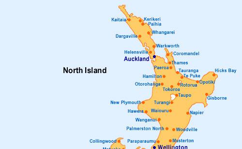 Cartina Nuova Zelanda.Untitled Document